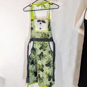Other - Cute Green Octopus Cotton Kitchen Apron NWT